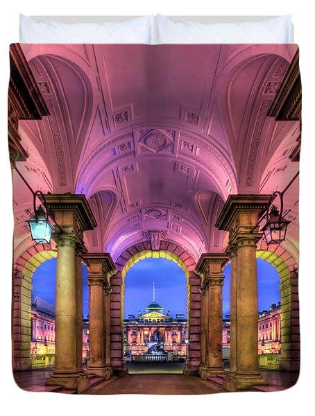 Rhapsody In Pink Duvet Cover by Evelina Kremsdorf