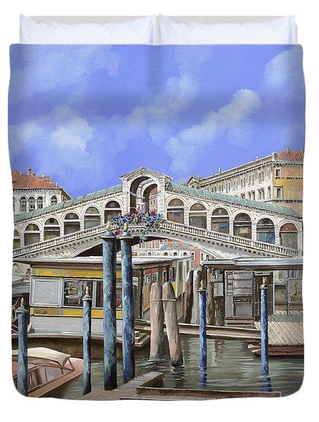 Rialto Dal Lato Opposto Duvet Cover by Guido Borelli