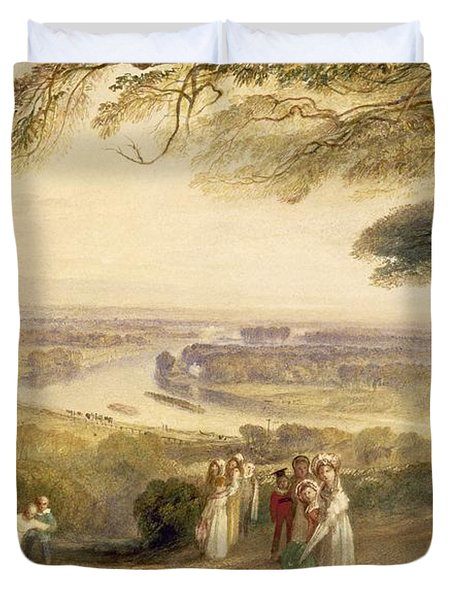 Richmond Terrace Duvet Cover by Joseph Mallord William Turner