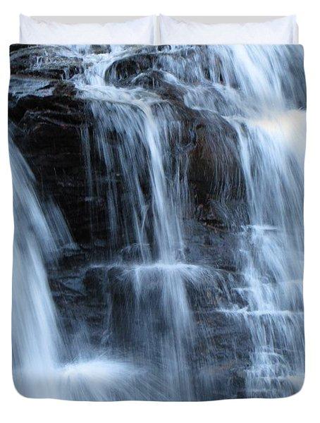 Ricketts Glen Waterfall 3942 Duvet Cover by David Dehner