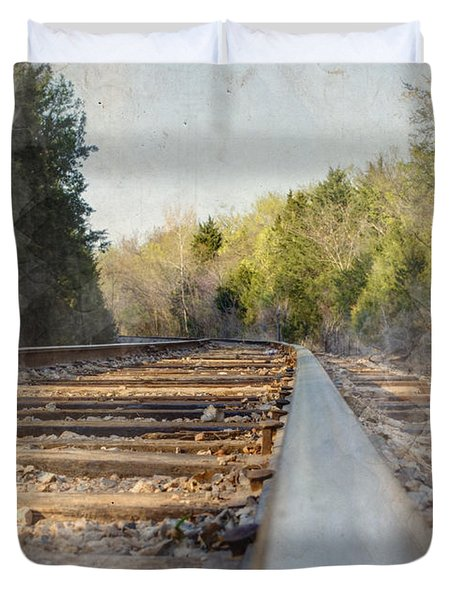 Riding The Rail II Duvet Cover
