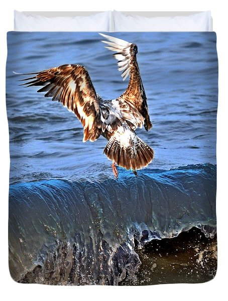 Riding The Wave  Duvet Cover by Debra  Miller