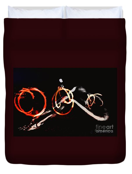 Duvet Cover featuring the photograph Burning Rings Of Fire by Clayton Bruster