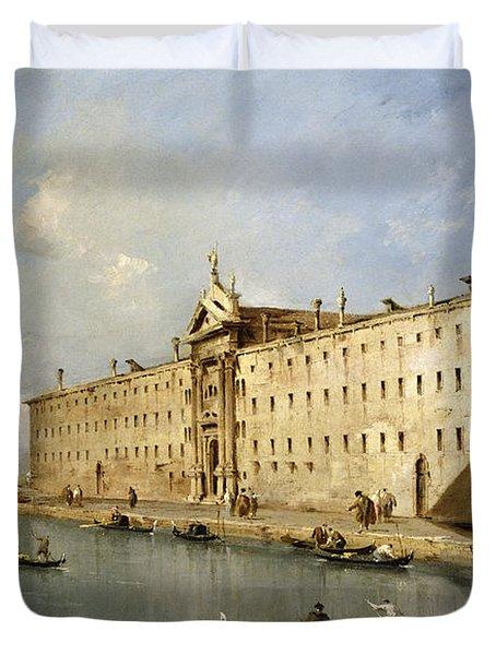 Rio Dei Mendicanti Duvet Cover by Francesco Guardi