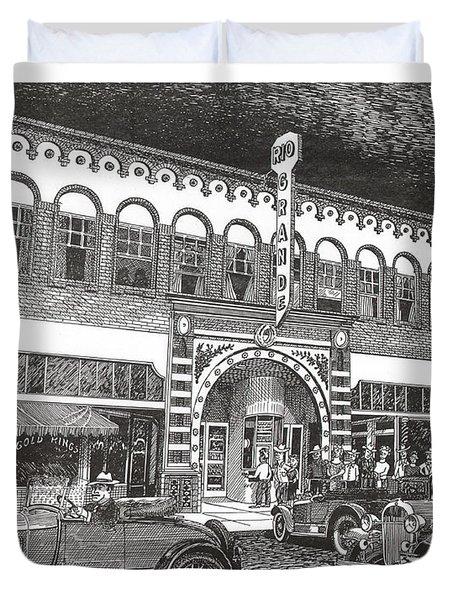 Rio Grande Theater Duvet Cover by Jack Pumphrey