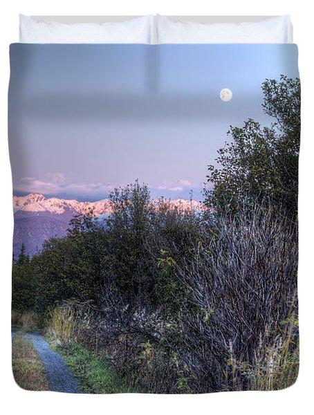Rising Moon Duvet Cover by Michele Cornelius