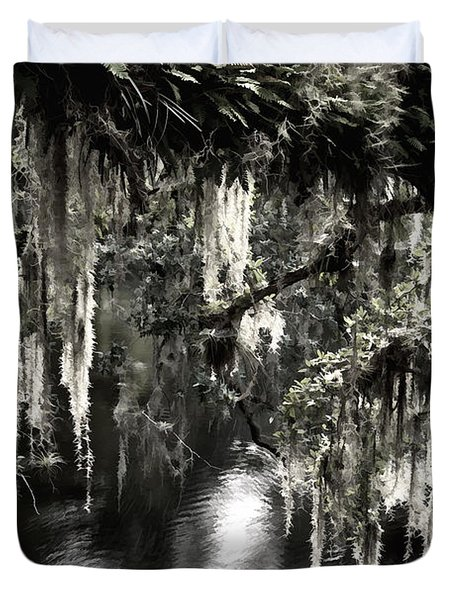 Duvet Cover featuring the photograph River Branch by Steven Sparks