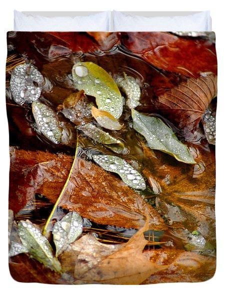 River Leaves Duvet Cover by LeeAnn McLaneGoetz McLaneGoetzStudioLLCcom