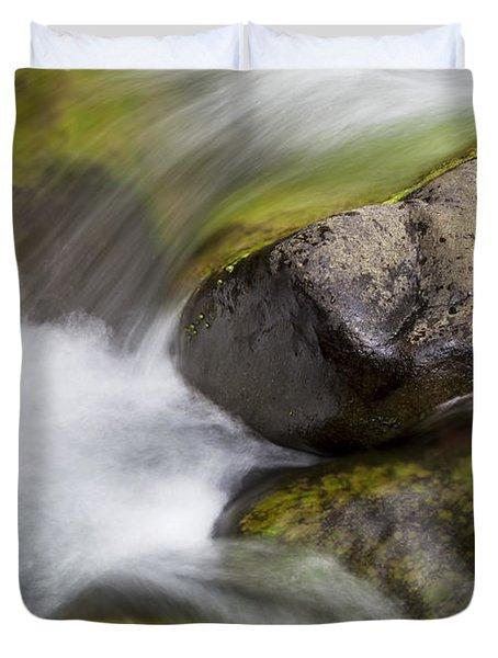 River Rocks II Duvet Cover by Jenna Szerlag
