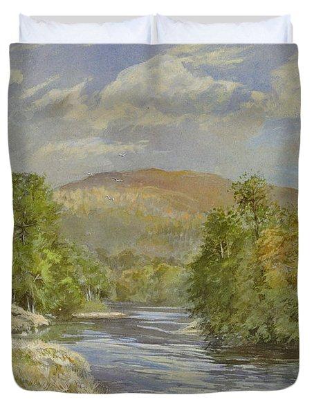 River Spey - Kinrara Duvet Cover by Tim Scott Bolton