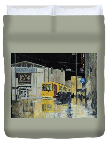 Rivermarket Streetcar 411 Duvet Cover