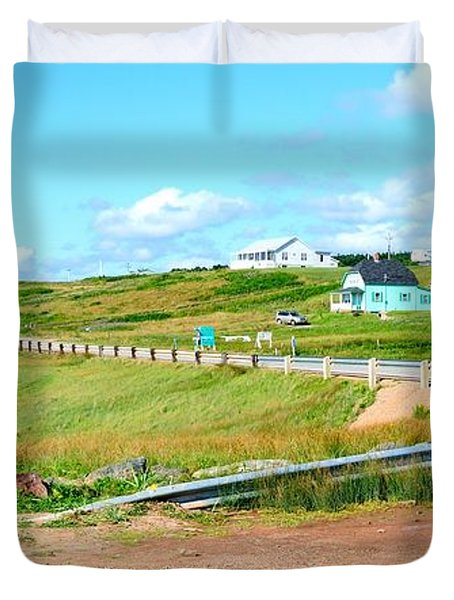 Duvet Cover featuring the photograph Road Trip In Cape Breton Nova Scotia by Joe  Ng