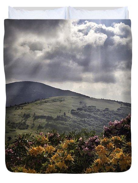 Roan Mountain Afternoon Duvet Cover by Rob Travis