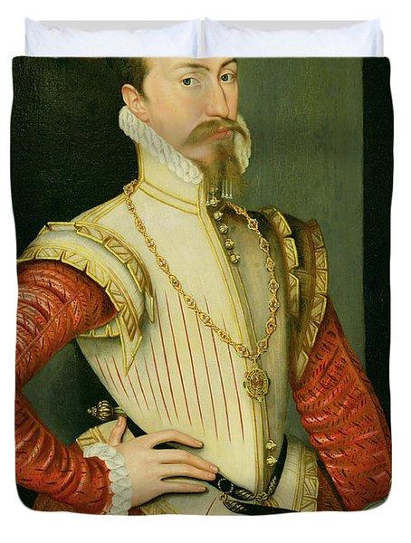 Robert Dudley - 1st Earl Of Leicester Duvet Cover by Steven van der Meulen