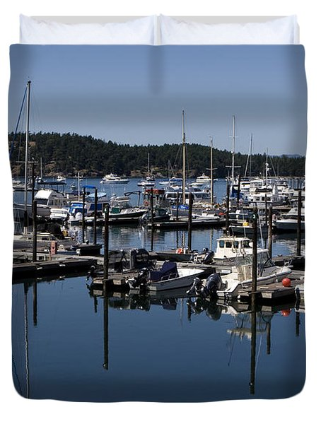 Roche Harbor Reflected Duvet Cover