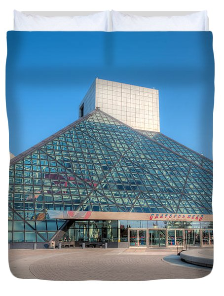 Rock And Roll Hall Of Fame II Duvet Cover by Clarence Holmes