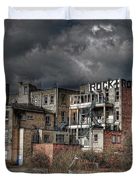 Rock And Rollers Duvet Cover by Yhun Suarez