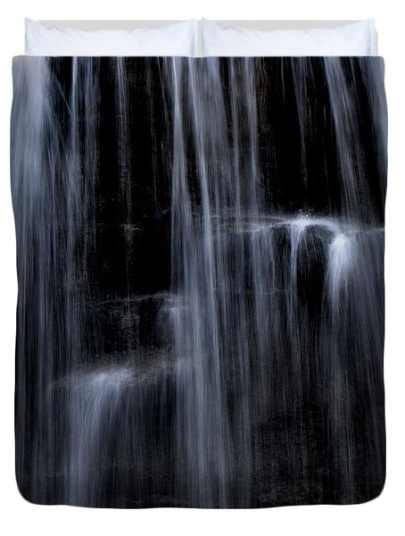 Rock Glen Water Falls Duvet Cover