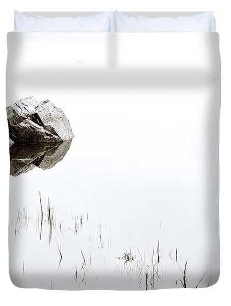 Rock In The Water Duvet Cover