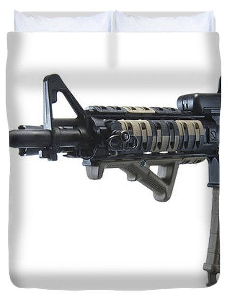 Rock River Arms Ar-15 Rifle Duvet Cover by Terry Moore