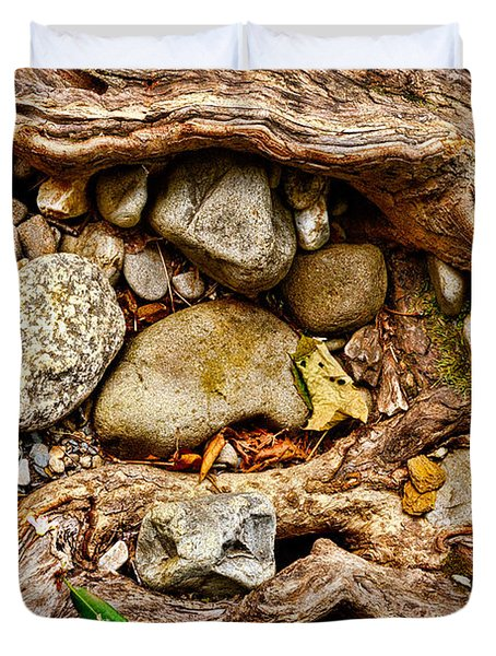 Rocks And Roots Duvet Cover by Christopher Holmes