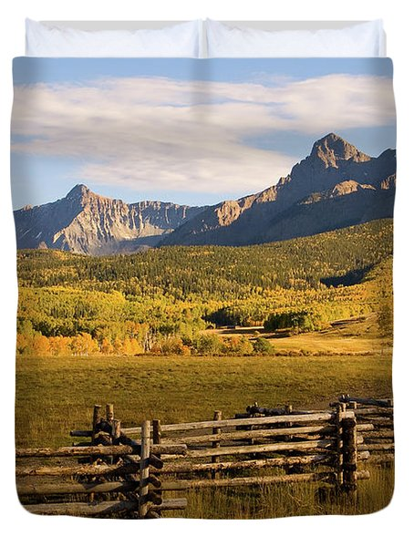 Rocky Mountain Ranch Duvet Cover