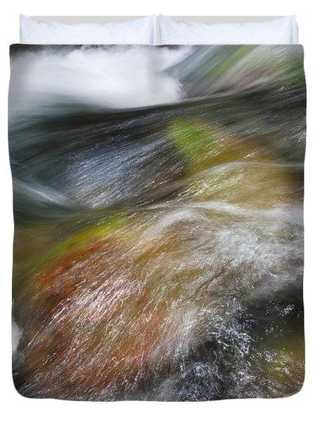 Rocky Riverbed Duvet Cover by Jenna Szerlag