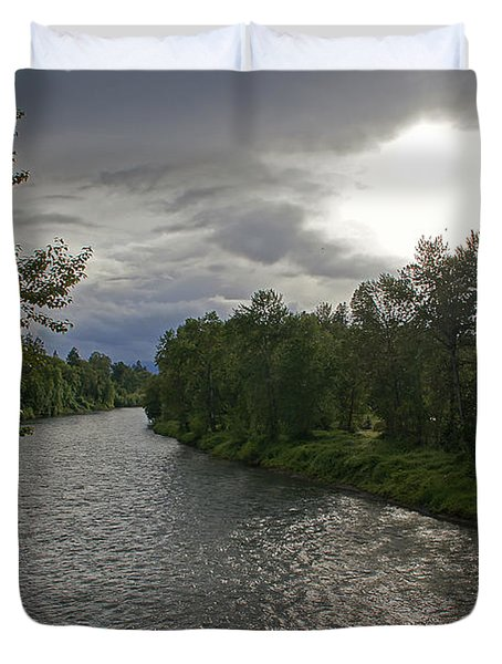 Rogue River In May Duvet Cover