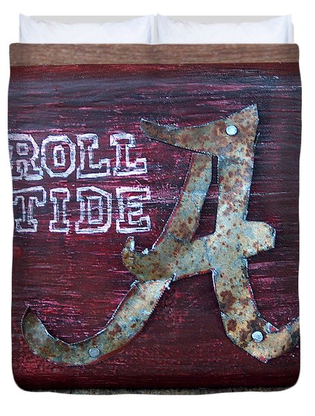Roll Tide - Small Duvet Cover by Racquel Morgan