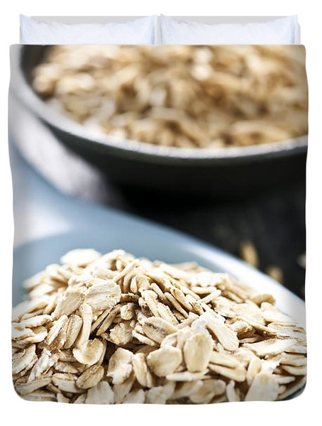 Rolled Oats And Oat Groats Duvet Cover by Elena Elisseeva