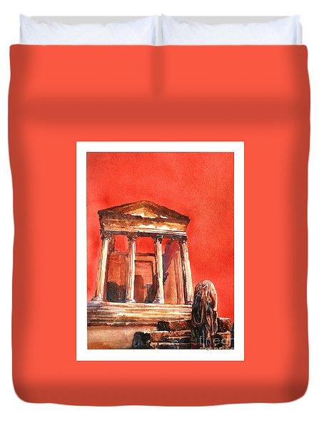 Roman Ruins- Tunisia Duvet Cover by Ryan Fox