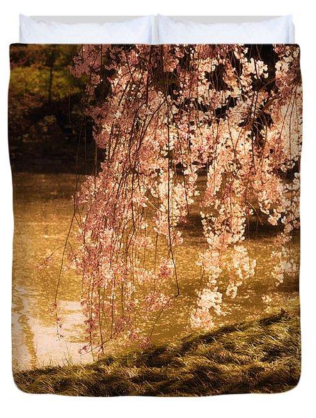 Romance - Sunlight Through Cherry Blossoms Duvet Cover by Vivienne Gucwa