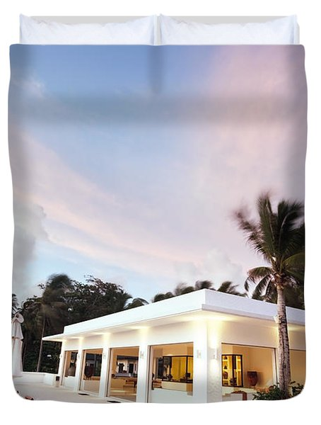 Romantic Place Duvet Cover by Setsiri Silapasuwanchai