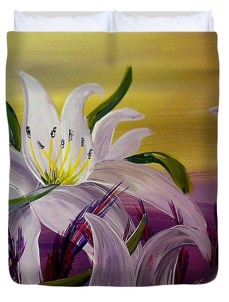 Romantic Spring Duvet Cover by Mark Moore