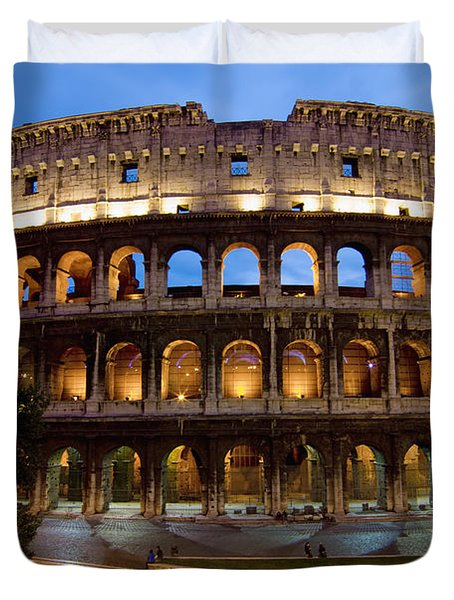 Rome Colosseum Dusk Duvet Cover by Axiom Photographic