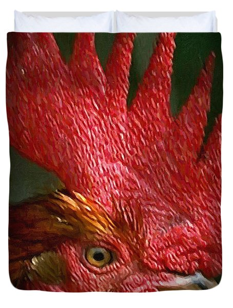 Rooster - Painterly Duvet Cover