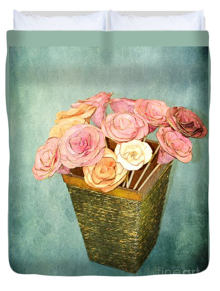 Duvet Cover featuring the photograph Rose For You by Traci Cottingham