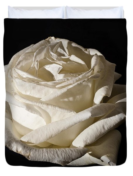 Duvet Cover featuring the photograph Rose Silver Anniversary by Steve Purnell