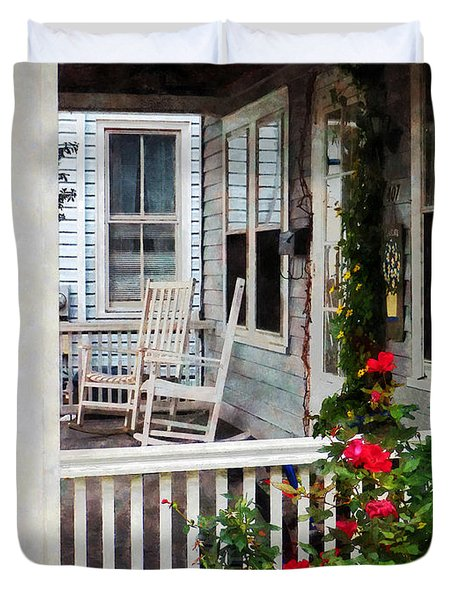 Roses And Rocking Chairs Duvet Cover by Susan Savad