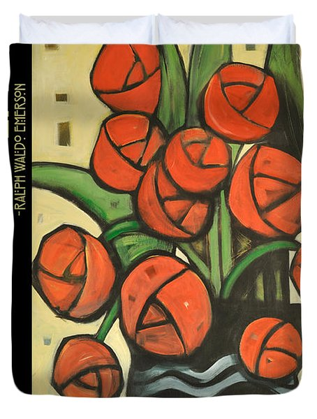 Roses In Vase Poster Duvet Cover by Tim Nyberg