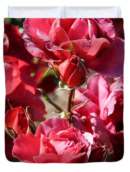 Roses Duvet Cover by Kerri Ligatich