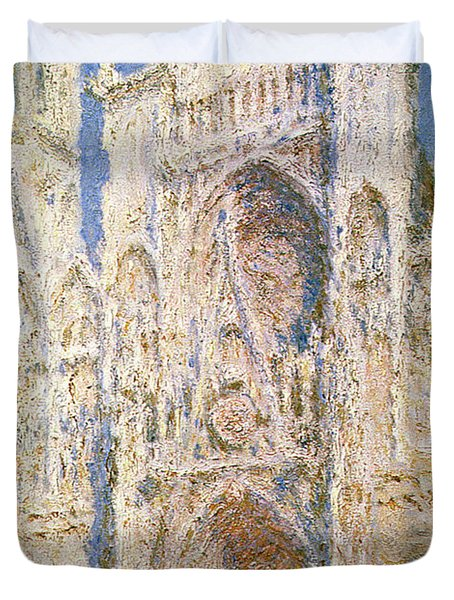 Rouen Cathedral Duvet Cover by Claude Monet