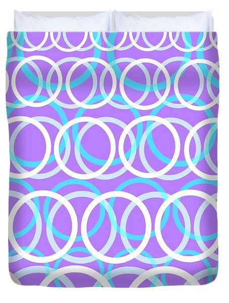 Round Cirlces Duvet Cover by Louisa Knight