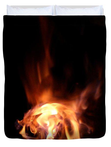 Round Heat Duvet Cover by Adam Long