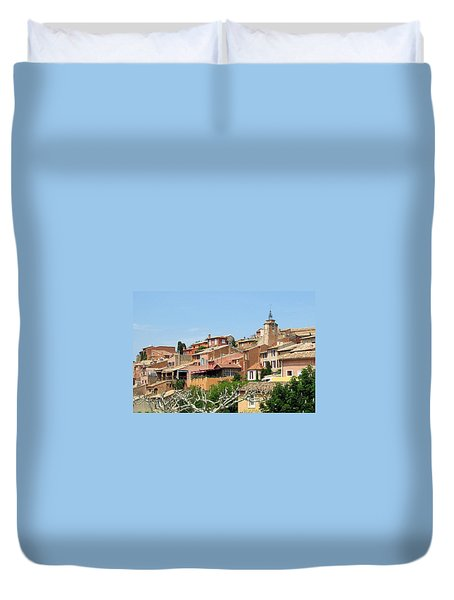 Duvet Cover featuring the photograph Roussillon In Provence by Carla Parris