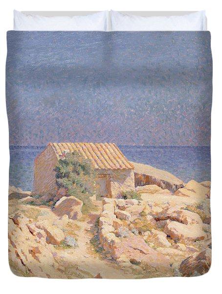 Roussillon Landscape Duvet Cover by Georges Daniel de Monfreid