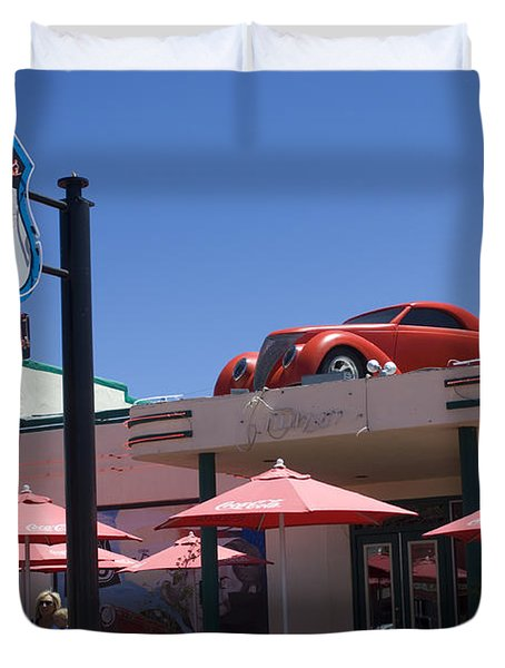 Route 66 Cruisers Williams Arizona Duvet Cover by Bob Christopher