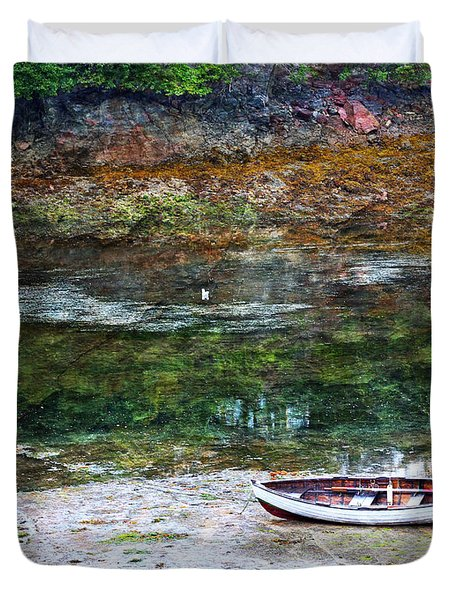 Duvet Cover featuring the photograph Rowboat In The Slough by Michele Cornelius