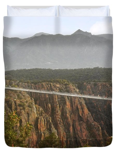 Royal Gorge Bridge Colorado - The World's Highest Suspension Bridge Duvet Cover by Christine Till