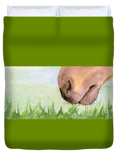 Rubbing Your Nose In It Duvet Cover by Annemeet Hasidi- van der Leij